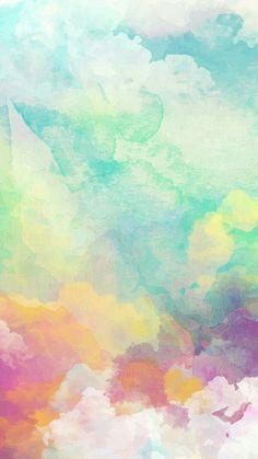 Plain Wallpaper, Colorful Wallpaper, Screen Wallpaper, Pastel Background, Watercolor Background, Cute Wallpaper Backgrounds, Cute Wallpapers, Cellphone Wallpaper, Iphone Wallpaper