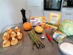 Edels Mat & Vin: Kalkunfilet med hasselback poteter, asparges og appelsinsaus ! Chili, Meat, Chicken, Food, Chile, Essen, Meals, Chilis, Yemek