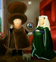 The Arnolfini Marriage, Fernando Botero,  1978