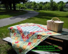 """Life in the Scrapatch: """"Checkers In the Park"""" Picnic Quilt ~ Free Quilt Tutorial"""