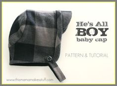 He's All Boy {baby cap tutorial}