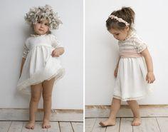 Resultado de imagen de vestido ceremonia niña blanco