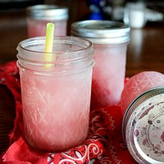 Margaritas in a jar - made ahead and frozen to slushy perfection. Easy, and great for parties! #foodgawker