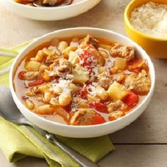 Italian, turkey, soup, Italian bean-sausage soup, low calories, low fat, low…