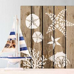 Try our pretty Striped Starfish Stencil design from our nautical decor collection for your next coastal DIY project!  Mix and match from our large collection of beach decor stencils. http://www.cuttingedgestencils.com/starfish-stencil-ocean-decor-stencils.html