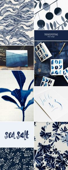 2015 Color Trends in Stationery : Inky Indigo
