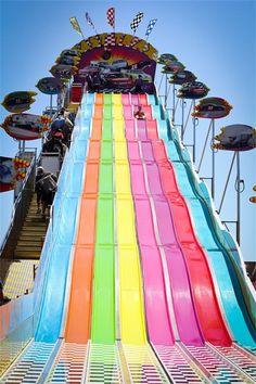 The San Diego County Fair - slide on a burlap! #EpicSummerRun