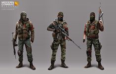 looks like rebel or mercenary clothing and outfit design could be adapted to look more like post apocolyptic soldiers