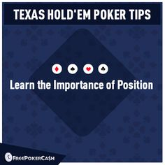 #PokerTips - Its importance to realize the position with regards to the blinds for winning the hand.