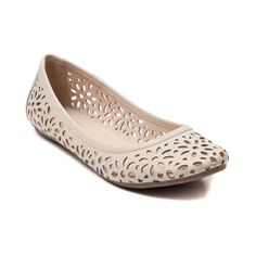 Shop for Womens SHI by Journeys Tony Flat, Off White, at Journeys Shoes. Cute floral cutout flats just in time for spring! The Tony ballet flat from SHI features a soft faux leather upper chopped out with allover floral designs. Includes a cushioned footbed for comfort and a rubber tread bottom for grippy durability.