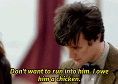 "Rory, immediately after: ""You owe CASANOVA a CHICKEN?!"""