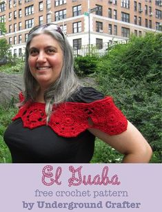 El Guaba, free crochet wrap pattern by Underground Crafter in 7 sizes from XS through 5X.
