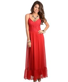 Sexy Chiffon Maxi Party Dress  Hot Color ~ Burgundy Red