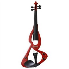 Red Electric Violin 1 of 1 Electric Violin, Outdoor Power Equipment, Garden Tools, Red, Yard Tools, Rouge