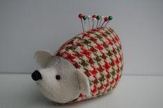 tweed hedgehog pincushion