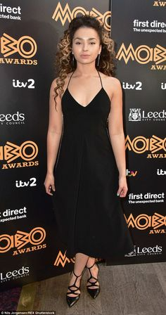 Glamorous nominee: Ella Eyre was dressed to impress to attend the MOBO Awards 2015 nominations launch in London on Wednesday Sarah Jane Crawford, Ella Eyre, Leeds City, Tori Kelly, Simple Black Dress, Lorde, Celebs, Celebrities, Hollywood Stars