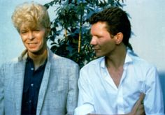DAVID BOWIE and Iva Davies of Australian band Icehouse... My next best fav singer to David