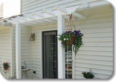 option for OKI house? Diy Pergola Kits, Vinyl Pergola, Craftsman Bungalows, Cottage Homes, Pathways, Trellis, My House, New Homes, Backyard