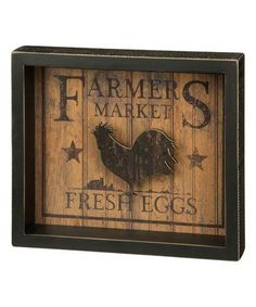 Look at this #zulilyfind! 'Fresh Eggs' Box Sign #zulilyfinds