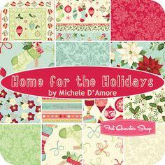 Home for the Holidays Fat Quarter Bundle Michele D'Amore for Benartex Fabrics