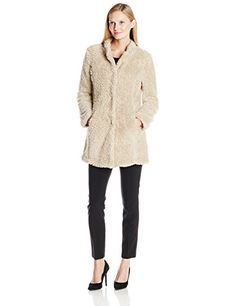 Kenneth Cole Women's Fuzzy Faux-Fur Coat *** You can get more details by clicking on the image.