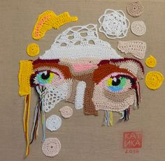 Beautiful #Art from Etsy #Crochet Portrait Artist KatikaCrochetArt