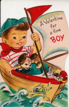Vintage Hallmark 1950s A Valentine For A Fine by poshtottydesignz