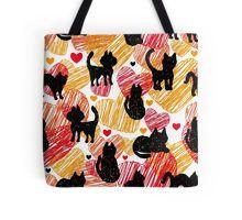 Black cats Tote Bag