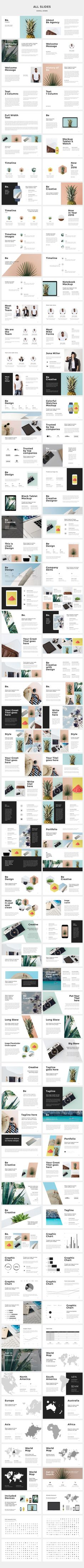 Be Powerpoint Presentation +30Photos by Dake Made on @creativemarket