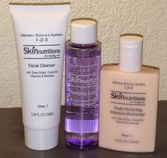 Skin Nutritions Ultimate Skincare System 1 2 3 Clinique 3 Step Skin Care | eBay