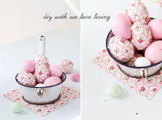 Anleitung #Decoupage #Ostereier; #DIY #Modpodge #Easter eggs