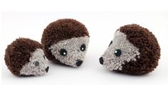 Pompom hedgehogs They are so adorable, every child would like to have one of those!!! I want one, I am no child!