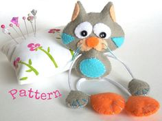 Skinny Cat-PDF sewing patterns-Cute cat von LittleThingsToShare