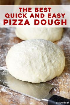 This quick and easy homemade pizza dough recipe is a game-changer! Say goodbye to takeout, and reach for this foolproof recipe on pizza night. There's nothing better than homemade pizza for a family f Electric Mixer, Cooking Recipes, Pizza Recipes, Recipes Dinner, Skillet Recipes, Fast Recipes, Cooking Gadgets, Oven Recipes, Breakfast