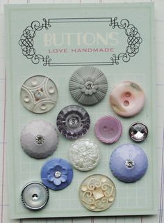love vintage buttons