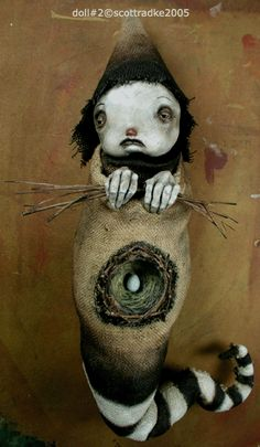 Scott Radke - doll donated to The Save Benefit being held on Feb. Stop Frame Animation, Artistic Tree, Sculpture Art, Sculptures, Feb 13, Fairy Art, Magical Creatures, Gourd, Surreal Art