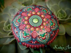 Hand painted mandala on wood from Katy's winter collection Dot Art Painting, Mandala Painting, Mandala Art, Stone Painting, Watercolor Painting, Mandala Painted Rocks, Mandala Rocks, Stone Mandala, Christmas Mandala