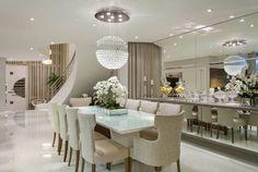 Construindo Minha Casa Clean: Consultoria de Decoração: Salas Integradas com Mesa Branca!