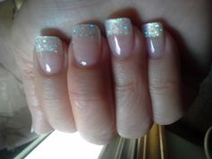 Glitter tip gel nails... :)