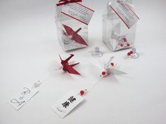 Lembrancinhas de casamento em vermelho e branco <3 http://loja.sakuraorigami.com.br/pd-84b33
