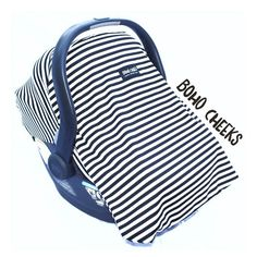00662755c9e5 Car Seat Cover for Infant Car Seat Fits all Infant Car Seats- Milk Thief ( Black and White Stripes)