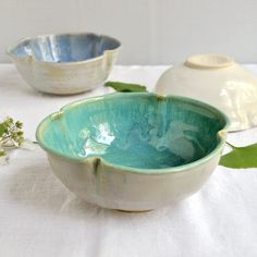 Wheel Thrown Flower Bowl