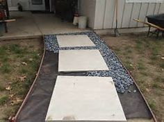 Walkway Landscaping with Mexican Pebbles - Bing images