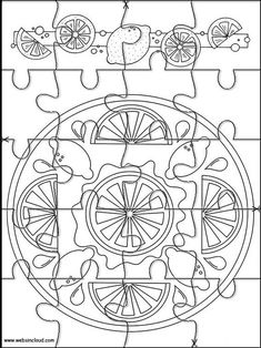 Printable jigsaw puzzles to cut out for kids Mandalas 82