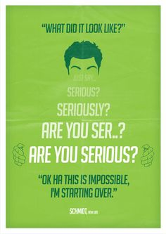 """""""Seriously"""" ~ New Girl (2011–) Quote designed by Barry McGovern"""