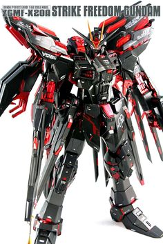 Custom Build: PG 1/60 Strike Freedom Gundam [Coca Cola Zero ver.] - Gundam Kits…