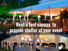We offer many different sizes of #Tents, whether you are planning a large wedding, #CorporateEvent, or small backyard party. We are here to help, call or email us for #ARAChicagoLand