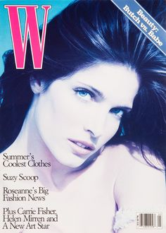 W Magazine's Supermodel Cover Girls - Stephanie Seymour on the cover of W Magazine May 1994