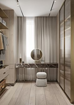 Magnificent Modern Marble Interior With Metallic Accents En images ideas from Home Inteior Ideas Walk In Closet Design, Bedroom Closet Design, Closet Designs, Bedroom Decor, Wardrobe Design, Bedroom Couch, Marble Interior, Above Couch, Dressing Room Design