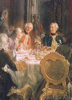 Adolph Menzel - König Friedrichs II. Tafelrunde in Sanssouci